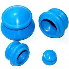 Банки резиновые для вакуумного массажа 4 шт.